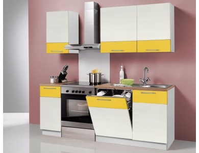 Кухня Базис Linecolor-05 2.1 метра (желтая)