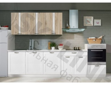 Кухня Базис Nicole-Mix-02 3.2 метра (белая)