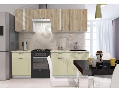 Кухня Базис Nicole-Mix-03 2.4 метра (зеленая)