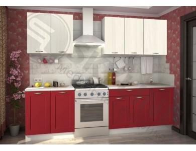 Кухня Базис Nicole-Mix-06 2.7 метра (красная)