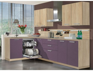 Кухня Базис Вудколор-05 2.65 метра (фиолетовая)