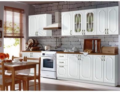 Кухня Базис Классика-01 3.2 метра (белая)