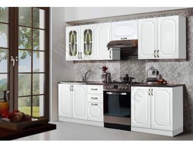 Кухня Базис Классика-08 2.6 метра (белая)
