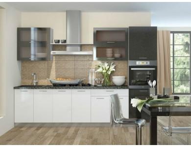 Кухня Базис-22 3.1 метра (черно-белая)