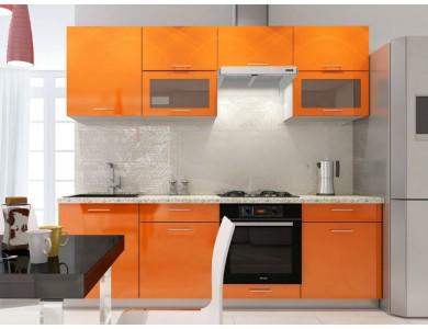 Кухня Базис-30 2.4 метра (оранжевая)