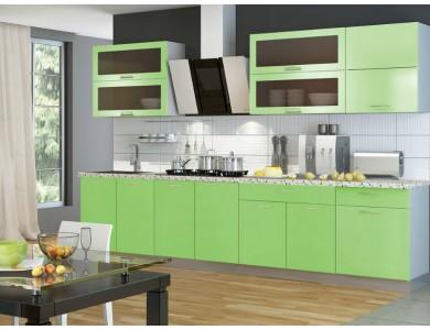 Кухня Базис-31 2.8 метра (зеленая)