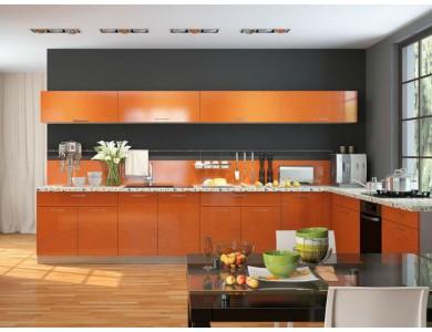 Кухня Базис-35 3.7 метра (оранжевая)