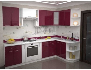 Кухня Базис-43 2.9 метра (красная)