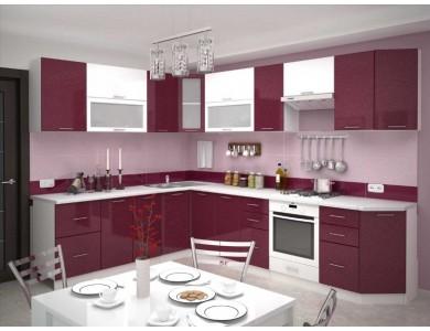 Кухня Базис-44 3 метра (красно-белая)