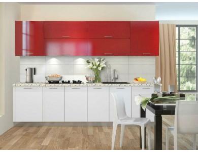 Кухня Базис-45 2.8 метра (красно-белая)