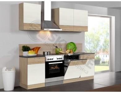 Кухня Базис Linewood-10 2 метра (ваниль)