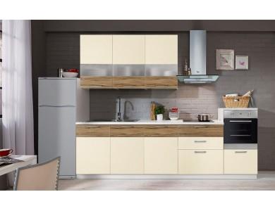Кухня Базис Linewood-01 3 метра (ваниль)