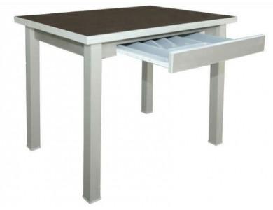 Стол обеденный раскладной с лотком