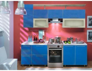 Кухня на заказ Торино-01 2.4 метра (синяя)