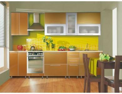 Кухня Торино 02 3.3 метра (золотая)