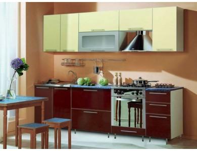 Кухня Торино-06 2.6 метра (бордовая)