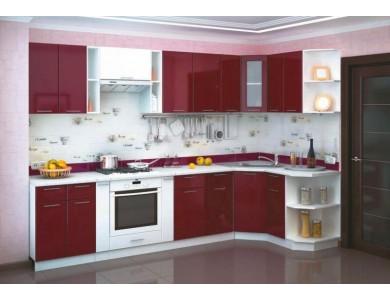 Кухня Валерия-М 03 3.2 метра (бордовая)