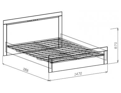 Кровать 1,4 с ортопедическим основанием