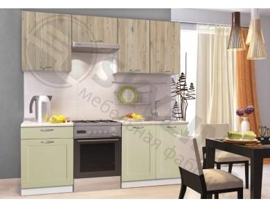 Кухня Базис Nicole-Mix-01 2 метра (зеленая)