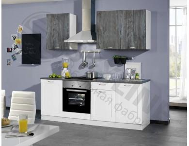 Кухня Базис Nicole-Mix-07 2.1 метра (черно-белая)