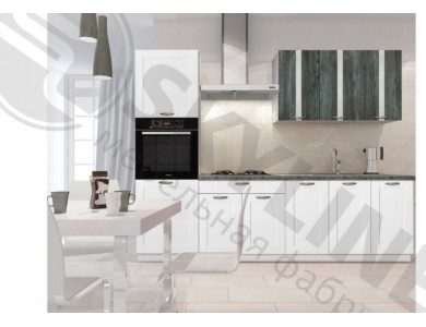 Кухня Базис Nicole-Mix-09 2.85 метра (черно-белая)