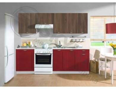 Кухня Базис Nicole-Mix-12 2.4 метра (красно-коричневая)