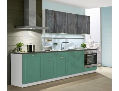 Кухня Базис Nicole-Mix-13 2.6 метра (черно-зеленая)