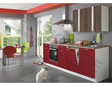 Кухня Базис Nicole-Mix-15 2.3 метра (красно-коричневая)