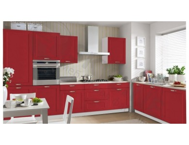 Кухня Базис Nicole-04 3 метра (красная)