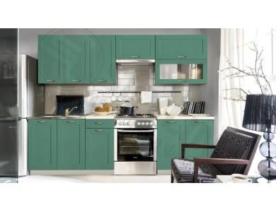 Кухня Базис Nicole-05 2.6 метра (зеленая)