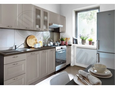 Кухня Базис Nicole-06 2.8 метра (серая)