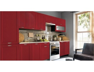 Кухня Базис Nicole-12 3.2 метра (красная)