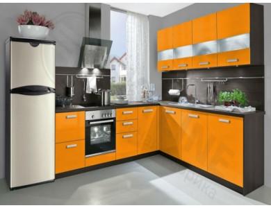 Кухня Базис Миксколор-06 2.55 метра (оранжевая)