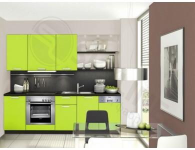 Кухня Базис Миксколор-07 2.45 метра (зеленая)