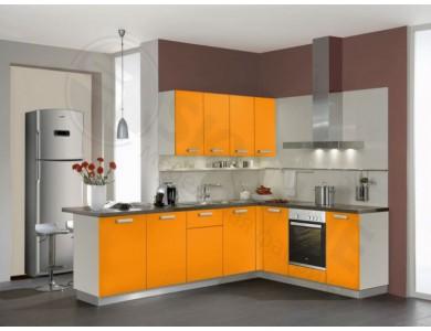 Кухня Базис Миксколор-11 2.4 метра (оранжевая)