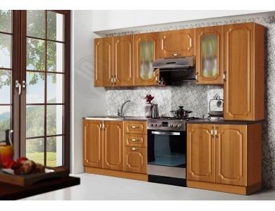 Кухня Базис Классика-10 2.6 метра (ольха)