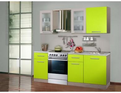 Кухня Базис-04 2.1 метра (зеленая)