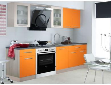 Кухня Базис 05 2.3 метра (оранжевая)