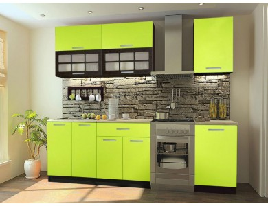 Кухня Базис 06 2.8 метра (зеленая)