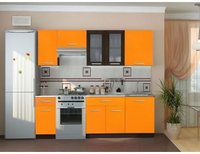 Кухня Базис 07 2.45 метра (оранжевая)