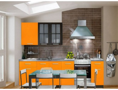 Кухня Базис-10 2.9 метра (оранжевая)