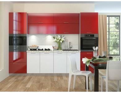 Кухня Базис-23 2.8 метра (красно-белая)