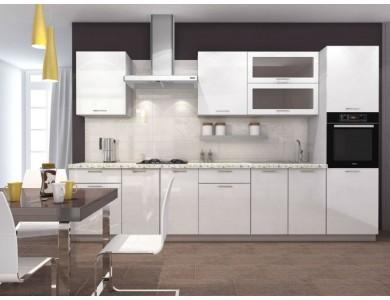 Кухня Базис-26 3.4 метра (белая)
