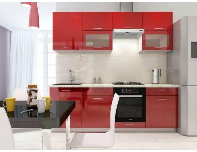 Кухня Базис-27 2.4 метра (красная)