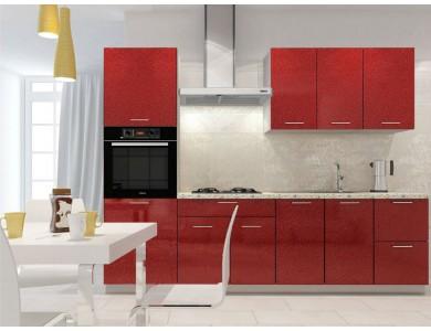 Кухня Базис-34 2.45 метра (красная)