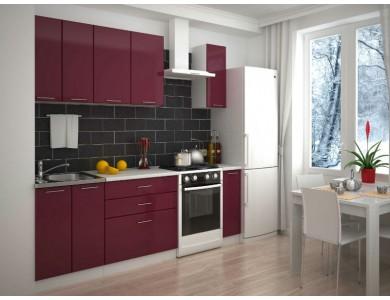 Кухня Базис-37 1.7 метра (красная)