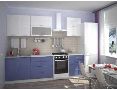 Кухня Базис-38 2.2 метра (бело-синий)