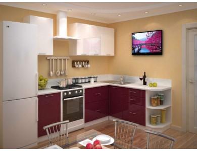 Кухня Базис-40 2.5 метра (красно-белая)