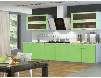 Кухня Базис-50 2.4 метра (зеленая)