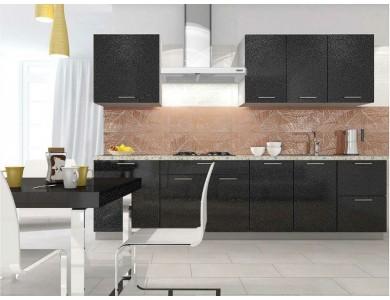 Кухня Базис-51 2.5 метра (черная)
